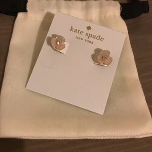 Kate Spade disco pansy reversible earrings